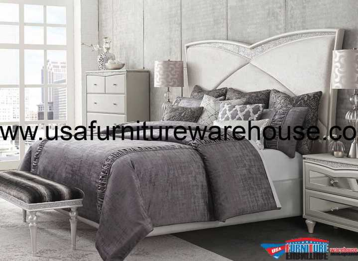 Aico Melrose Plaza Upholstered Bed