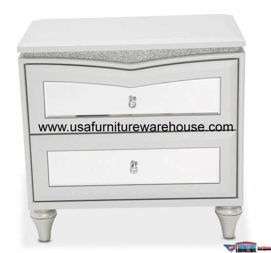 Aico Melrose Plaza Upholstered Nightstand