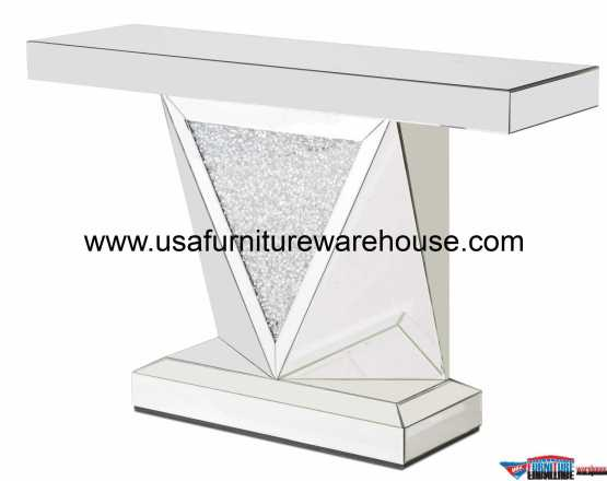 Aico Montreal Mirror & Crystal Console Table