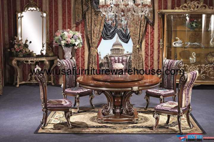George Versailles Luxury Round Dining Set