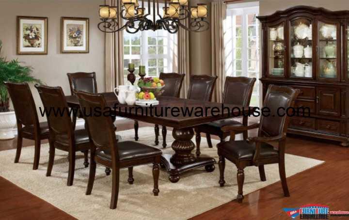 Alpena Double Pedestal Dining Set