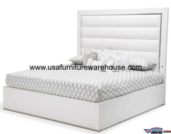 State St Upholstered Panel Bed