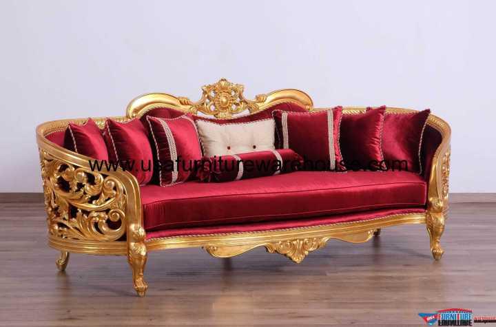 European Furniture Bellagio II Gold Sofa Set