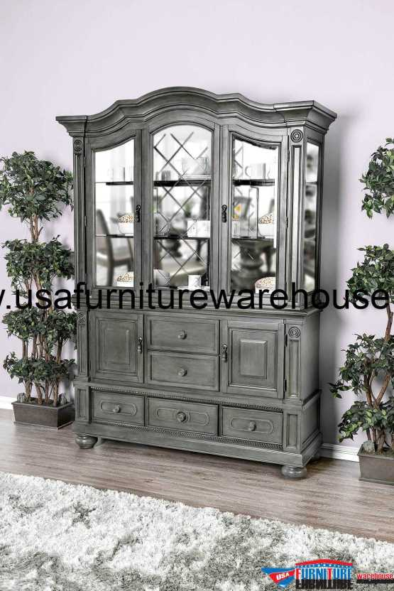 Alpena Hutch & Buffet Gray Finish