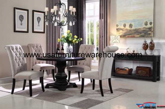 Gloria Rustic Round Dining Set