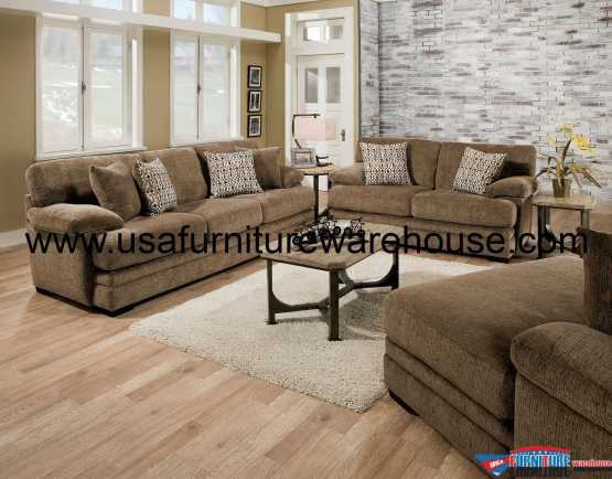 Abrianna Brown Sofa Set