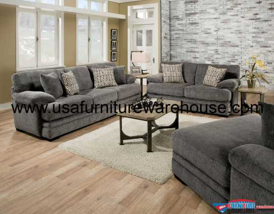 Abrianna Gray Sofa Set