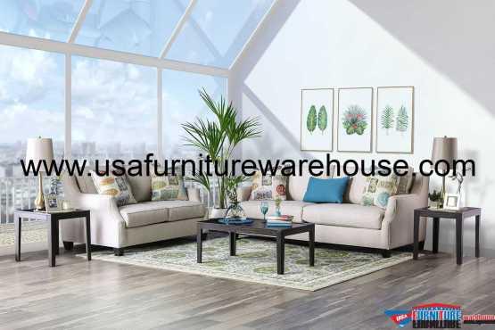 Dasia Beige Sofa Set