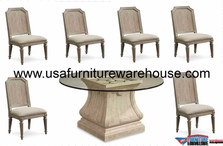 7 Piece Arch Salvage Leoni Dining Set