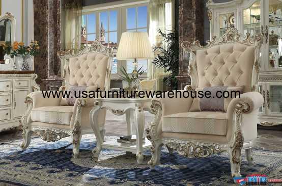 3 Piece Picardy II Chair Set