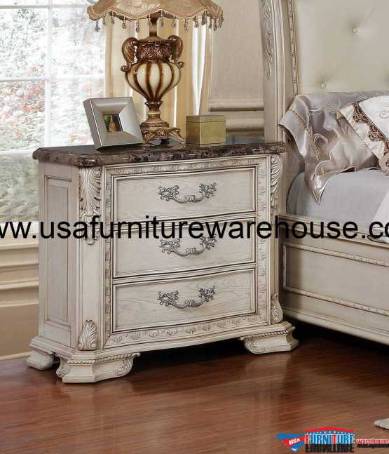 Florence 3 Drawer Nightstand