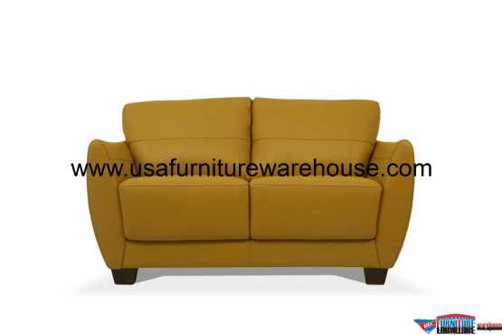 Valeria Leather Loveseat
