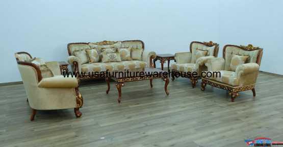 Fantasia II Walnut Sofa Set