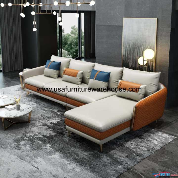 European Icaro leather Sectional