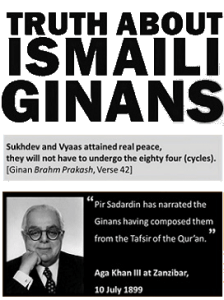 truth about ismali ginans