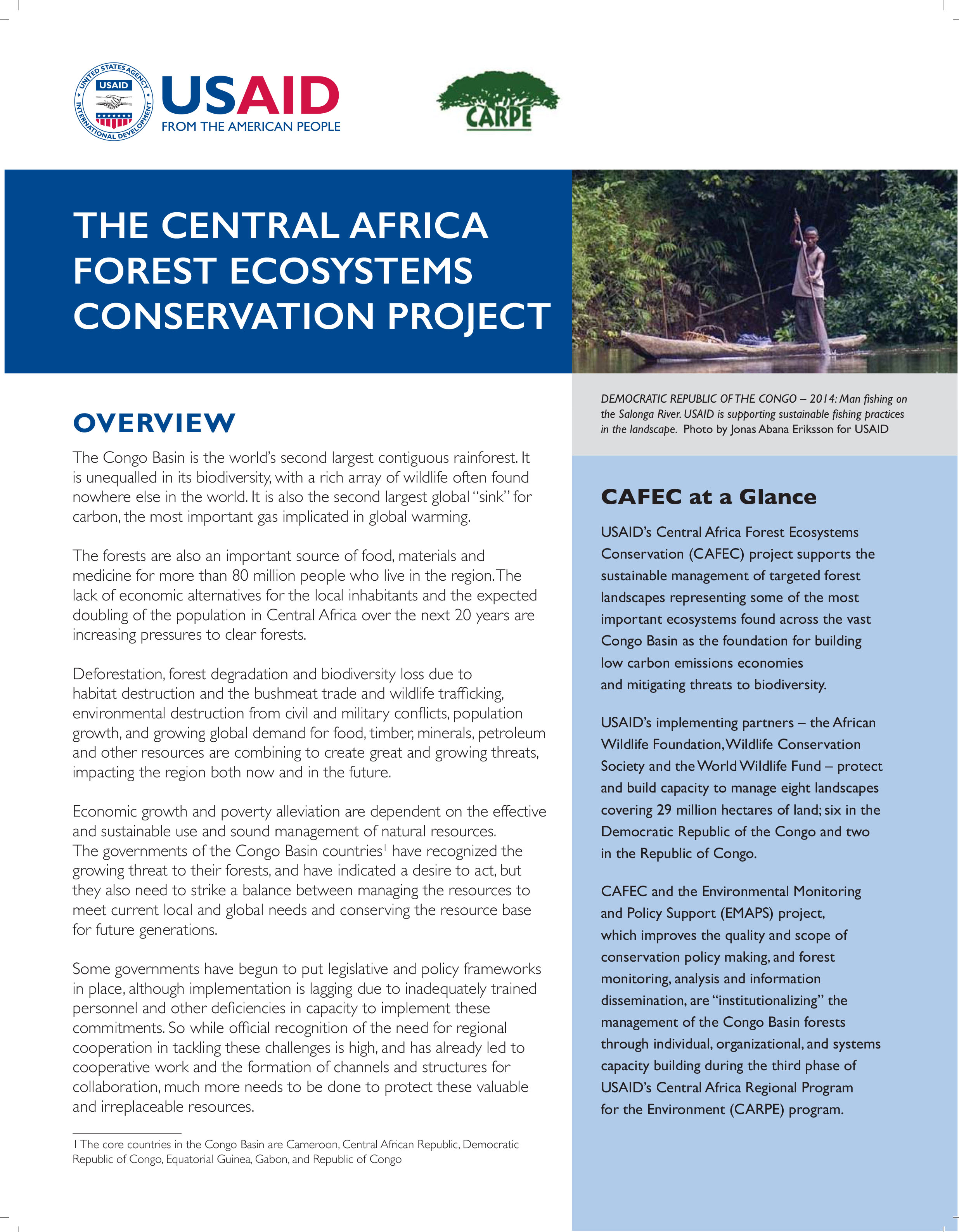 The Central Africa Forest Ecosystems Conservation Project