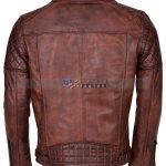 Brando Men Vintage Motorcycle Leather Jacket Buy NOW Free Shipping