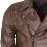 Mens-Brown-Vintage-Designer-Brando-Leather-Jacket-Present-For-Boyfriend-