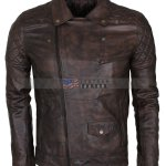 Mens-Vintage-Dark-Brown-Waxed-Italian-Style-Leather-Jacket-Nappa-Leather-