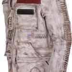 The Force Awakens Star Wars Finn Leather Jacket Mens Leather Jacket Hot Sale Black Friday Sale Free Shipping Celebrity John Boyega Leather Jacket