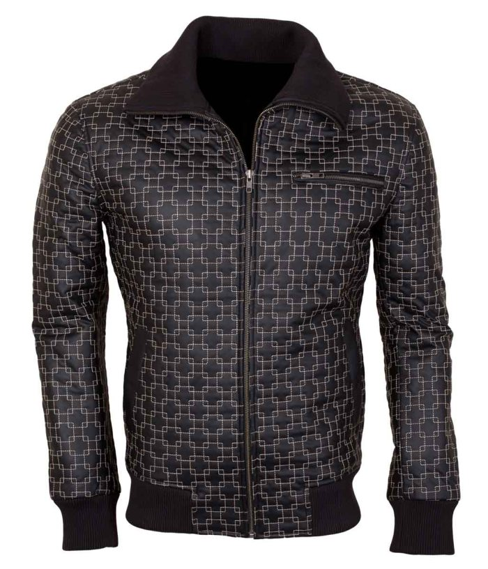 New Men's Black Designer Leather Jacket