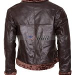 B3 Bomber Aviator Mens Brown Fur Leather Jacket Winter Jacket Sale USA Canada