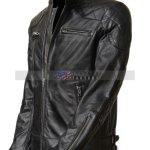 David Beckham Real Cowhide Leather Biker Jacket
