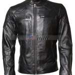 David BeckhamReal Cowhide Leather Biker Jacket Sale USA
