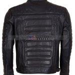 Designers Mens Padded Black Leather Jacket