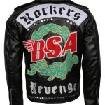 BSA Tribute to George Michael Mens Biker Leather Jacket