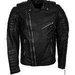Double Zipper Boda Biker Leather Jacket Sale
