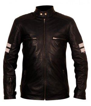 Mens 92 Rocket Cow Leather Biker Jacket