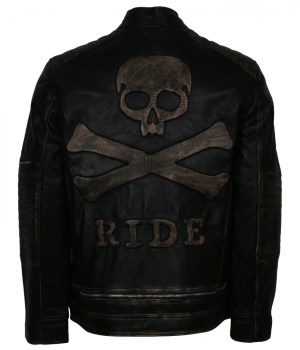 Tough Motorcycle Mens Skull Leather Jacket