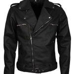 Negan Man Black Biker Leather Jacket