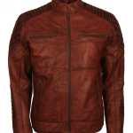 Scarecrow Mens Brown Vintage Leather Jacket Buy Now