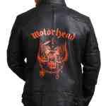 Motorhead Men Black Motorcycle Leather Jacket