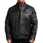 Sword Black Cowhide Leather Jacket Sale