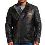 Ride Skull Motorcycle Cowhide Leather Jacket Sale