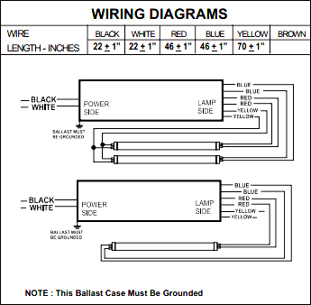 Fulham_T12_spec_3?resize\=345%2C338 fulham ballast for t8 wiring diagram wiring diagram for emergency 3-Way Switch Wiring Diagram for Switch To at panicattacktreatment.co