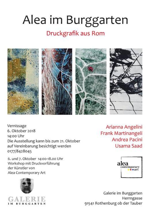 Ausstellung ALEA im Burggarten