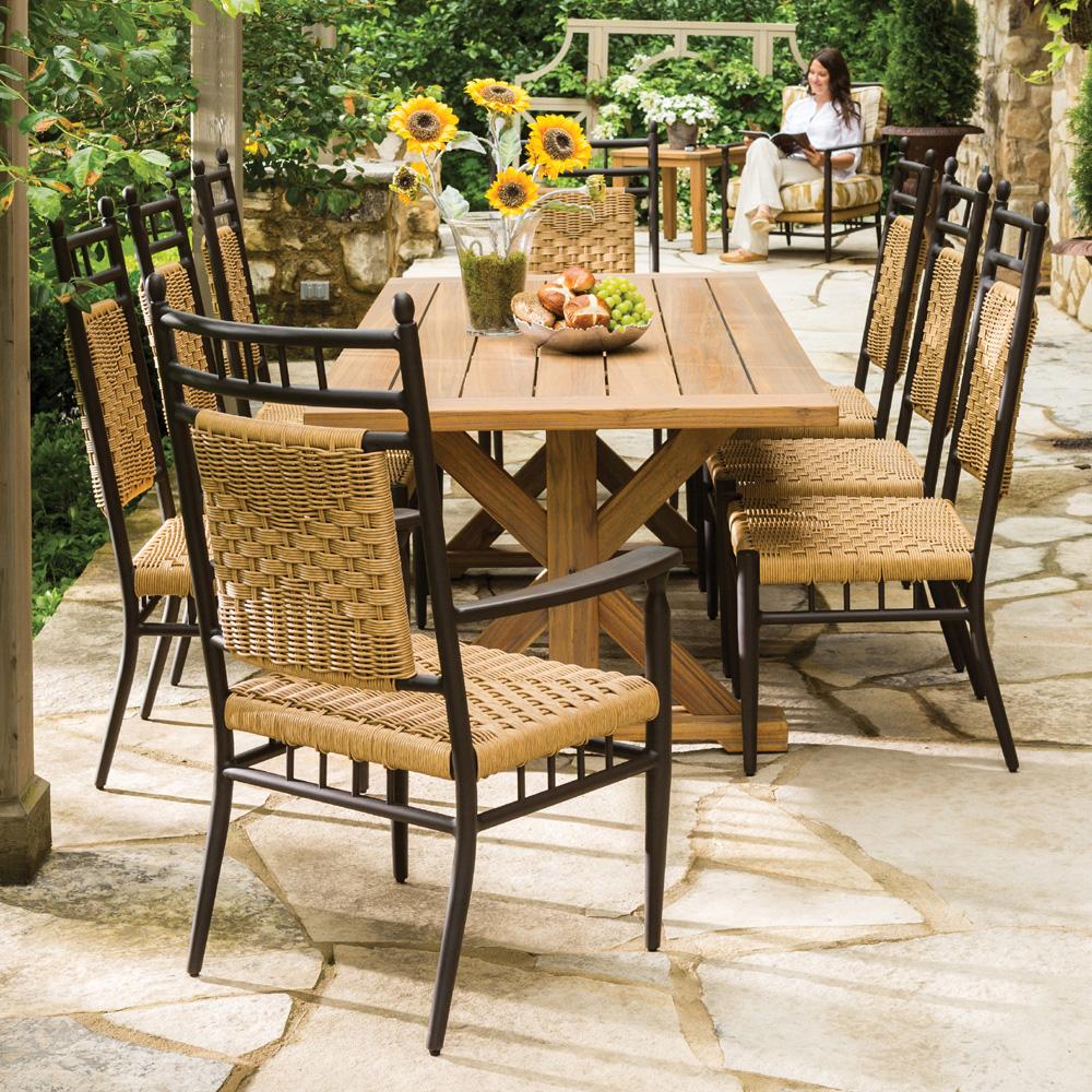 cushionless patio furniture