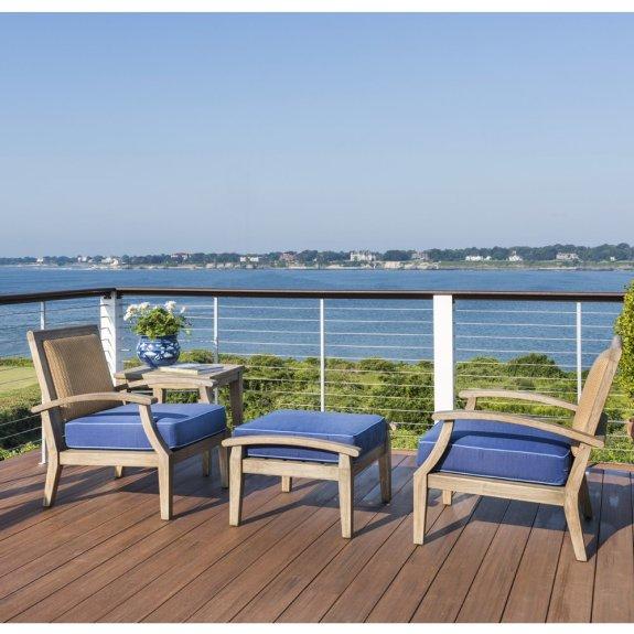 lloyd flanders wildwood outdoor lounge chair and ottoman set