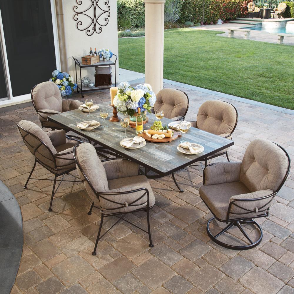 ow lee cambria 7 piece patio dining set