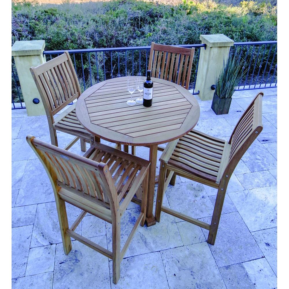 royal teak patio bar set for 4