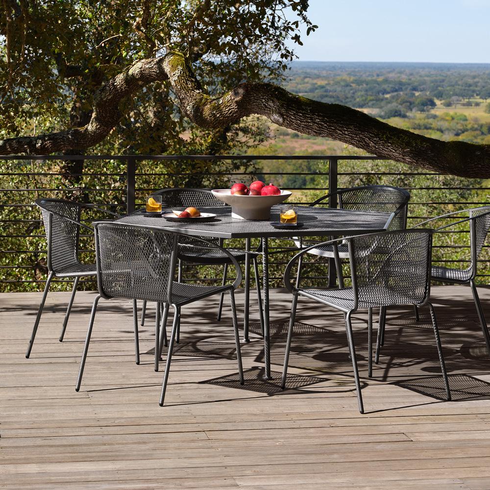 woodard zuma wrought iron patio set