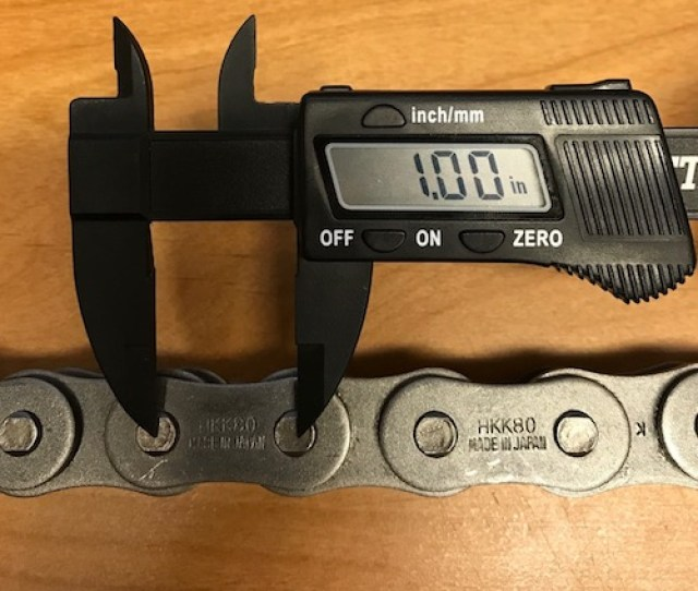 The First Thing You Will Want To To Is Measure The Pitch And Identify Your Roller Chain This Is Shown In The Photo Below