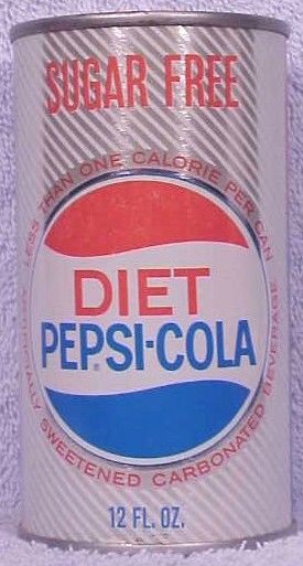 Attractive 1964 Diet Pepsi Can