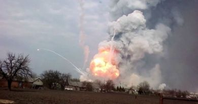 A Warehouse Containing  AMMO IN UKRAINE Just Exploded, And The Video Is Insane