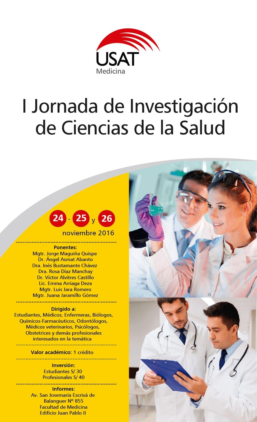 I Jornada de Investigación de Ciencias de la Salud