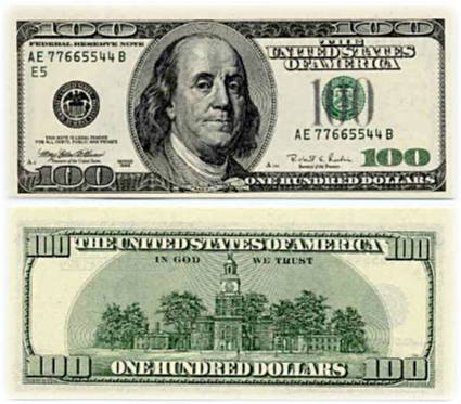 Image result for one hundred đollar bill photos